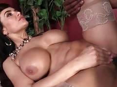 Slutty Lady Lisa Ann Enjoys Isiah`s Big Brown Shaft 2