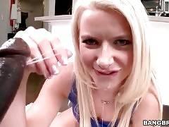 Anikka Albrite Swallows Massive Black Cock 3