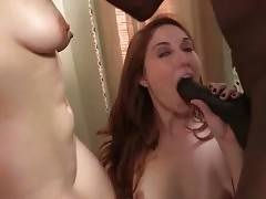 Cute Rose Red And Tiffany Kohl Enjoy Black Cock 1