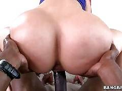 Big butt white girl takes big black dick. Anikka Albrite