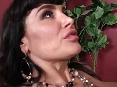 Slutty Lady Lisa Ann Enjoys Isiah`s Big Brown Shaft 1