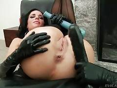 Busty Brunette Gets Her Holes Toyed 2