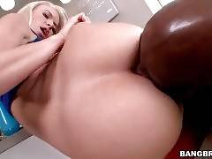 Black Dude Tongues White Babe`s Sweet Love Holes 3